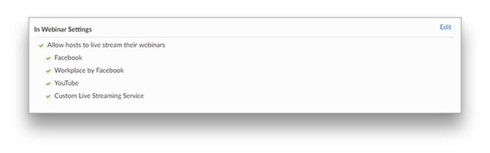 In webinar settings in Zoom