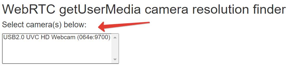 """Select camera(s) below"" box"